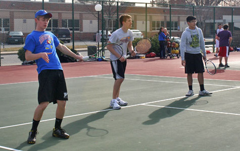 Tennis boys start practices, new season